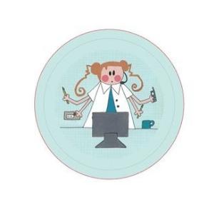 badge secretaire medical
